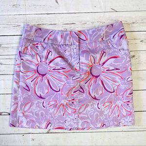 Adidas ClimaCool purple floral skirt shorts skort